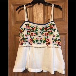 Adorable Anthropology Embroidered Top